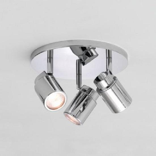 Deckenstrahler Rondell 3-flammig - Chrom glänzend - inklusive Leuchtmittel