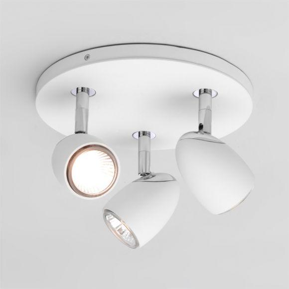 LHG Deckenstrahler in Weiß - 3-flammig - schwenkbar - inklusive Leuchtmittel