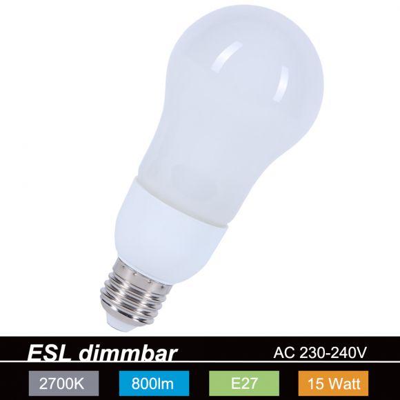 LHG Dimmbare Energiesparlampe ESL  A60 E27 15W Leuchtmittel