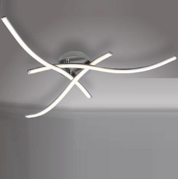 Dimmbare LED Deckenleuchte Slim 3x6Watt mit Fernbedienung