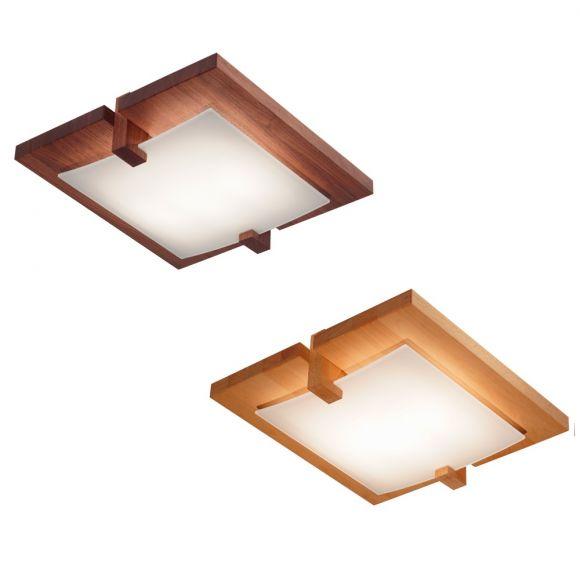 Domus Deckenlampe Mit Holz In Buche Oder Nussbaum