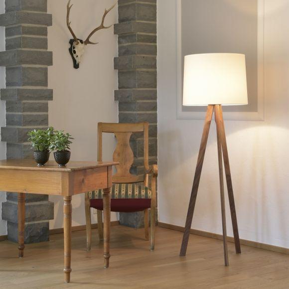 dreibeinige stehleuchte tre von herzblut holzfu w hlbar. Black Bedroom Furniture Sets. Home Design Ideas