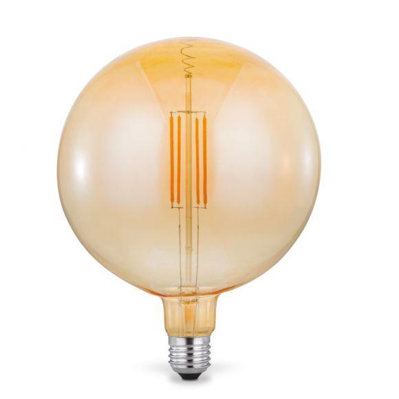 E27 Globe LED Filament Leuchtmittel 4W 2700K Amberglas,180mm Durchmesser