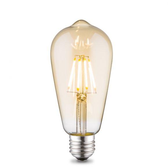 E27 4W LED Filament  Edison Design Amber H 14cm