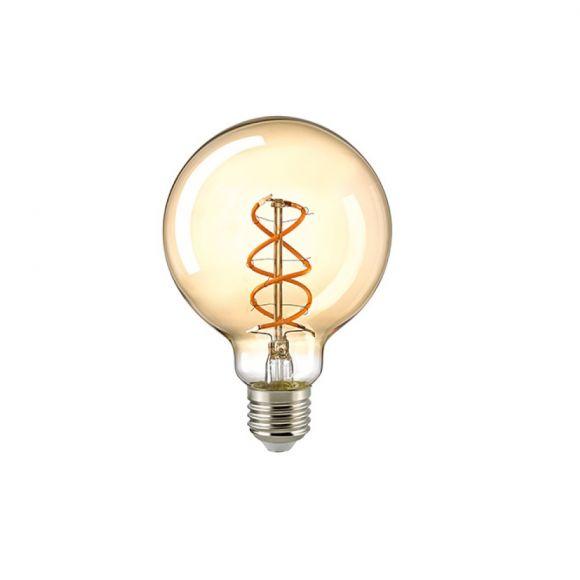 E27 LED Globe Curved G95 gold 5,5W 250lm 2000K