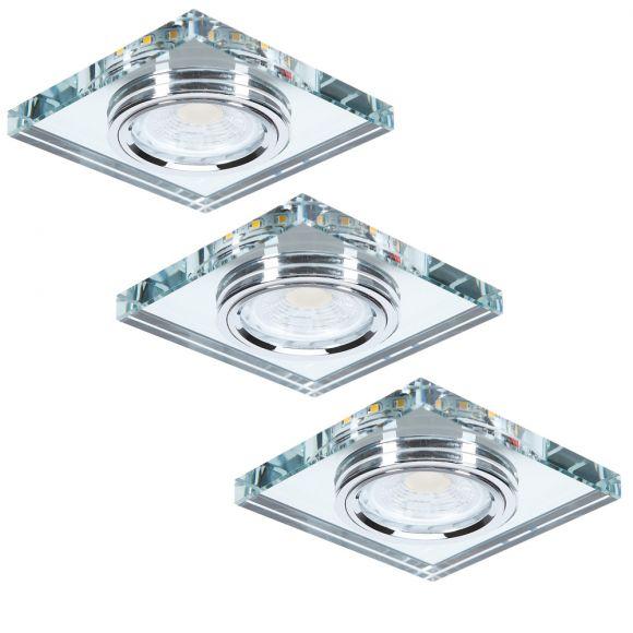 LHG Eckige Deckeneinbau 3-er Set LED-Hintergrundbeleuchtung