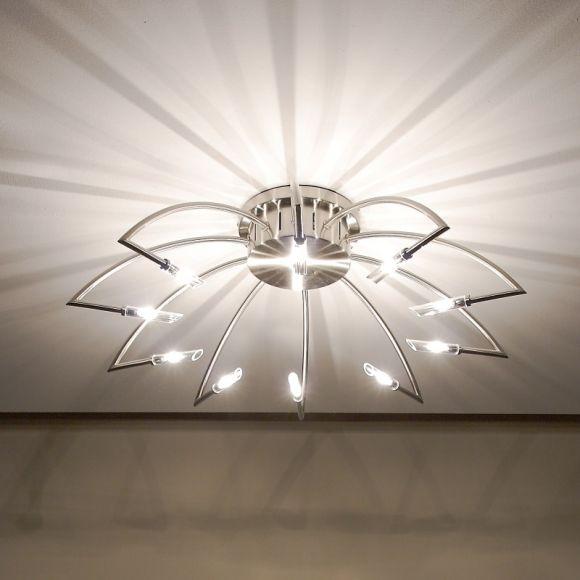 Effekt-Deckenlampe in Nickel-matt