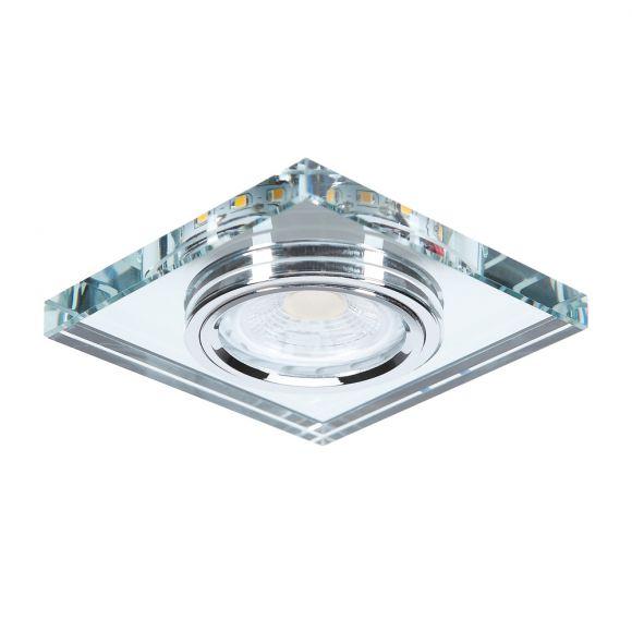 LHG Einbauleuchte, eckig, Glas, 9 x 9 cm, mit LED-Dekolicht