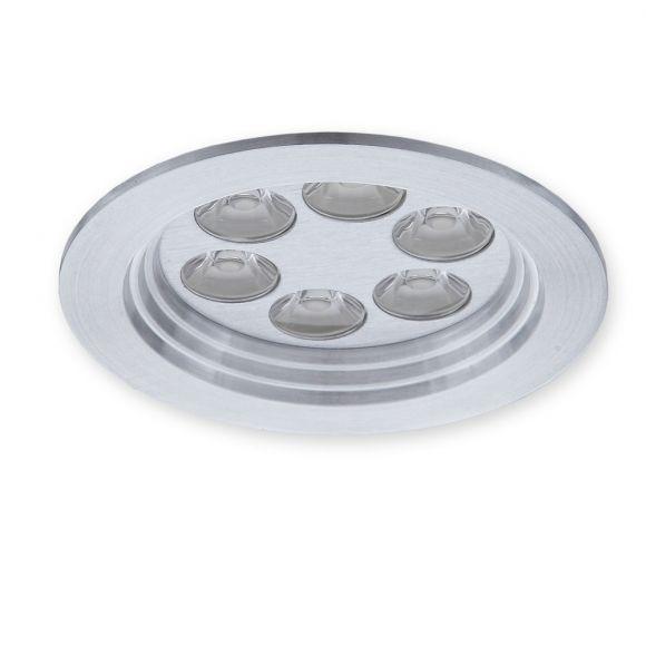 Einbauspot aus Aluminium - Inklusive LED 6 x 1W warmweiß - Inklusive Treiber