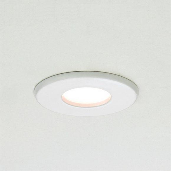 Einbaustrahler Kamo, Badstrahler, Weiß, Mattglas, LED geeignet, IP65
