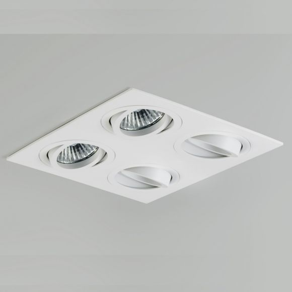 Einbaustrahler Taro quad mit 4 Strahlern in Weiß, dimmbar