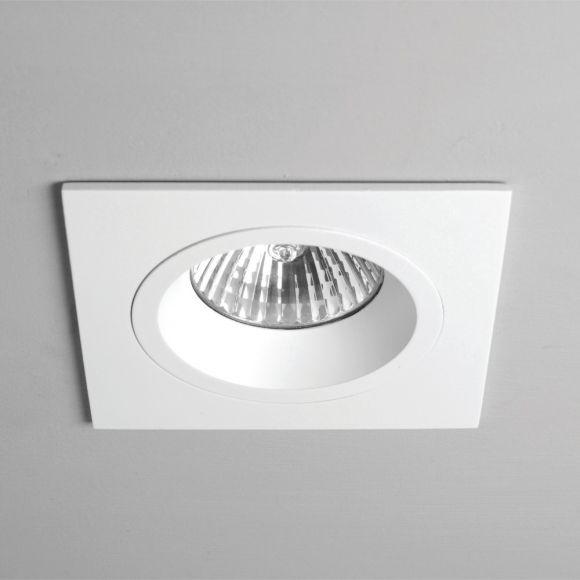 Einbaustrahler in Weiß, eckig, für 1x GU10 50W, IP20