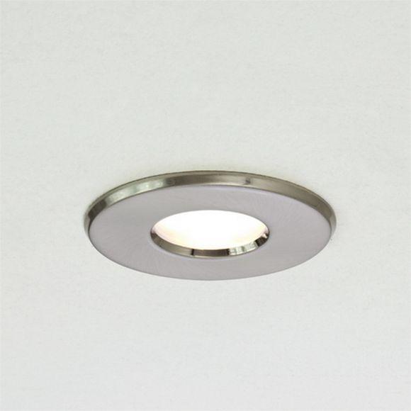 Einbaustrahler, rund, Nickel-gebürstet, Ausschnitt D=7cm, für 1x GU10