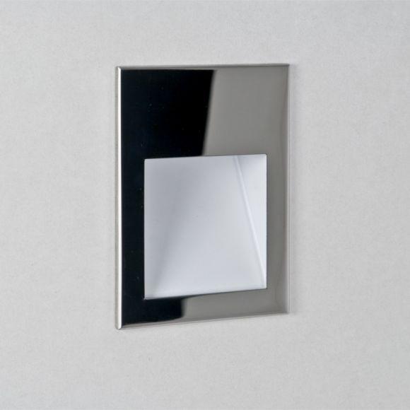 Einbauwandleuchte, Edelstahl poliert, 3Watt LED, IP65, exkl. Treiber