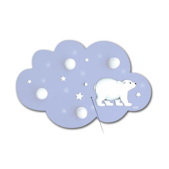 Eisbär Deckenlampe Wolke