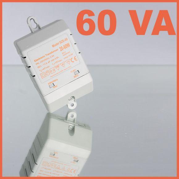 Elektronischer mini Halogen Trafo 20 - 60 VA