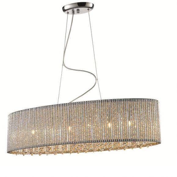 Esstischleuchte Kristall Deckenlampe Küche Weiß | Afdecker.com |  Hängeleuchte Esstisch Kristall Elitäre Ovale