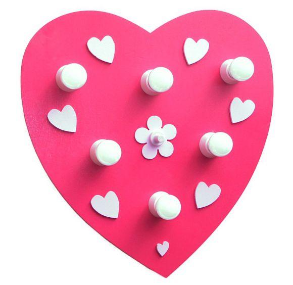 Herz Kinderdeckenleuchte in rosa-ein Traum im Kinderparadies