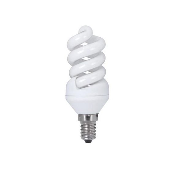 Energiesparlampe  E14, 9W, 3000K, warmweiß, 410Lumen