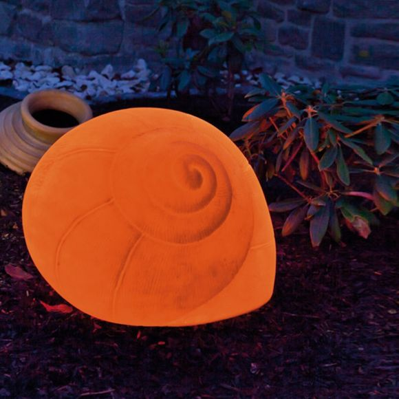 Figurenleuchte Schnecke für den Außenbereich in Terracotta 50cm oder 70cm