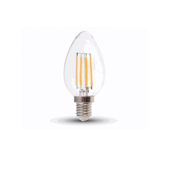 Filament LED E14 Kerze, 4W  320Lumen, 2700 Kelvin - dimmbar