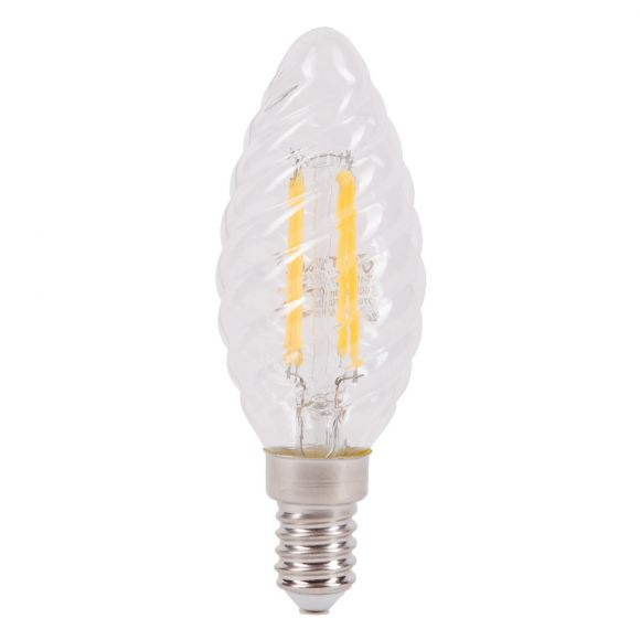 Filament LED E14, Twist Candle, 4W, 400Lm, 2700K, 300°