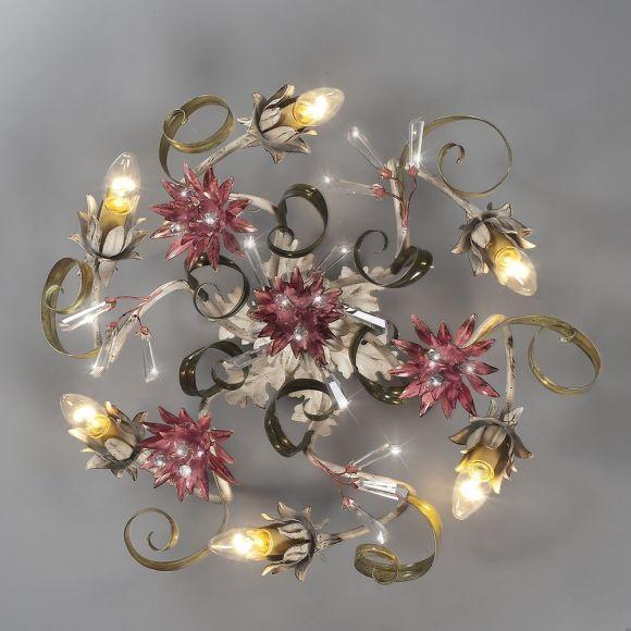 Florentiner Deckenleuchte - Kristallzapfen