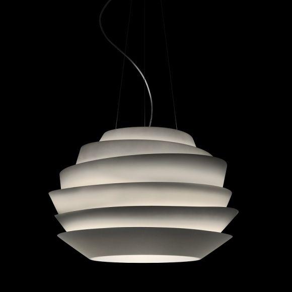 Foscarini LED-Pendelleuchte Le Soleil in weiß