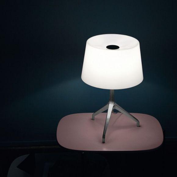 Foscarini Tischleuchte Lumiere XXS, Aluminium, Glas weiß