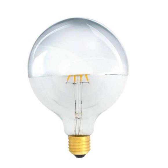 G125 4W LED Filament Kopfverspiegelt Silber