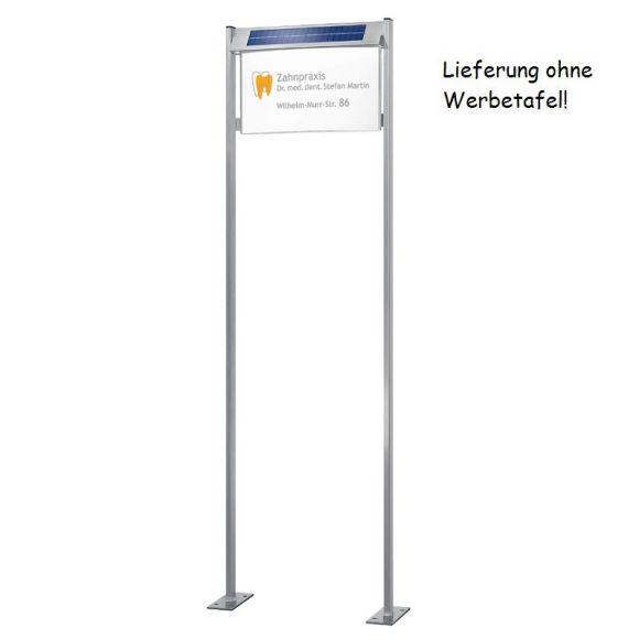 Gestell für Solar-Infotafeln in L und XXL - mit Bodenplatte