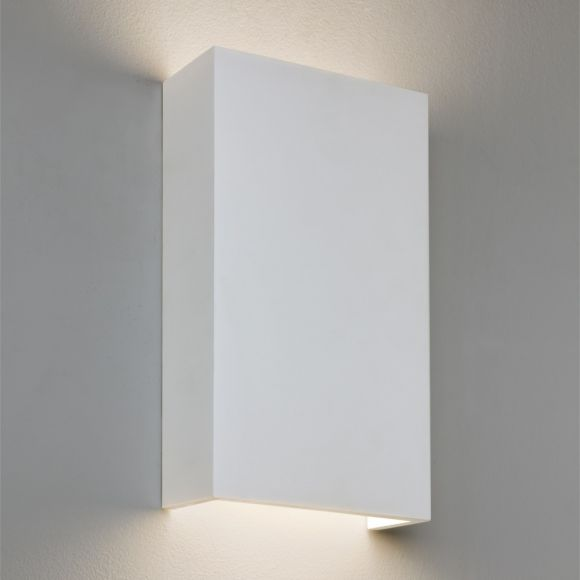 LHG Gipswandleuchte in Weiß, 14,6W LED, 3000Kelvin - inklusive LED-Taschenlampe