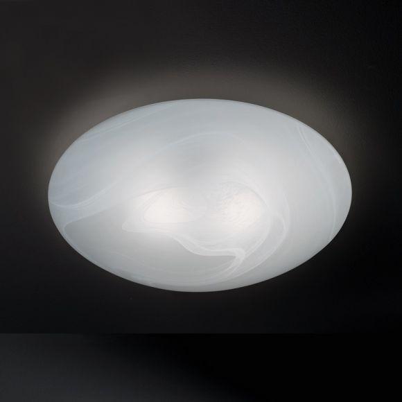 Glasdeckenleuchte mit Alabasterglas Ø34cm - IP44