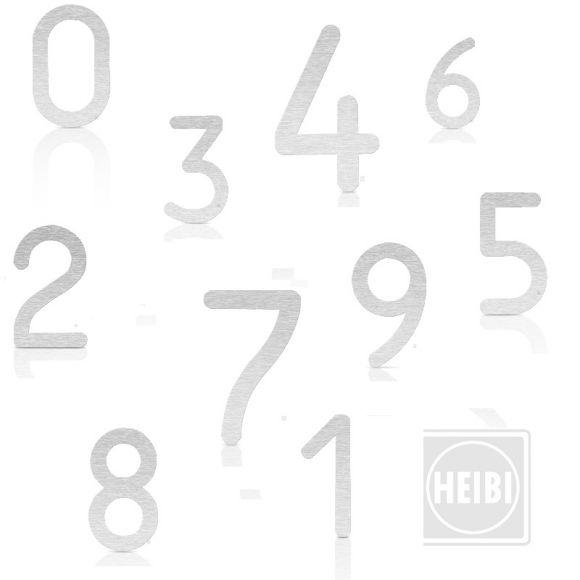 hausnummer aus geschliffenem edelstahl zum kleben h he 16cm nummern von 0 9 wohnlicht. Black Bedroom Furniture Sets. Home Design Ideas