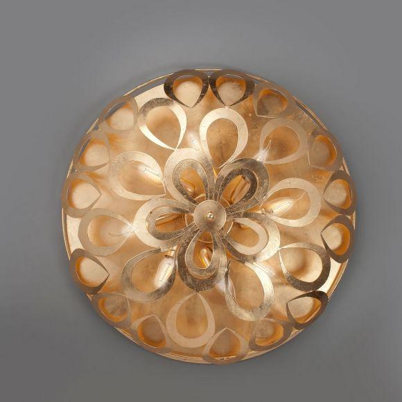 Hochwertige Deckenleuchte - Blattgold glänzend, 60 cm