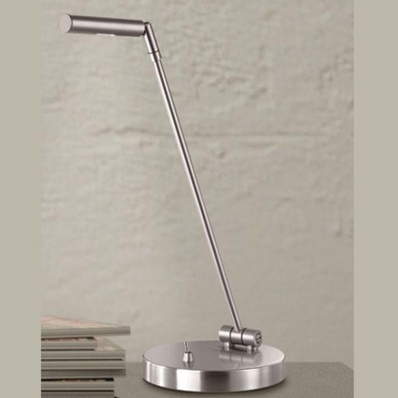 Hochwertige LED -Tischleuchte im Bauhausdesign - Chrom und Platin