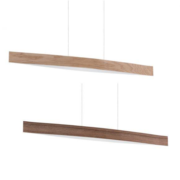 hochwertige led pendelleuchte in zwei holzfurnierarten. Black Bedroom Furniture Sets. Home Design Ideas