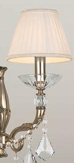 Wandleuchte 1- oder 2-flammig - Gold 24 K oder Silber-Antik