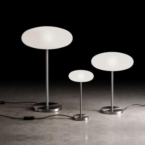 Holtkötter LED-Tischleuchte mit Opalglas rund, 3 Größen