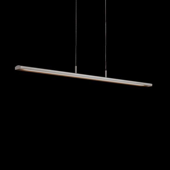 Holtkötter Schlanke LED-Pendelleuchte Silbermatt