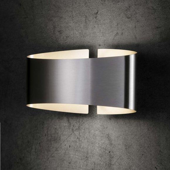 holtk tter wandleuchte voil edelstahl geb rstet stahlfarbig wohnlicht. Black Bedroom Furniture Sets. Home Design Ideas