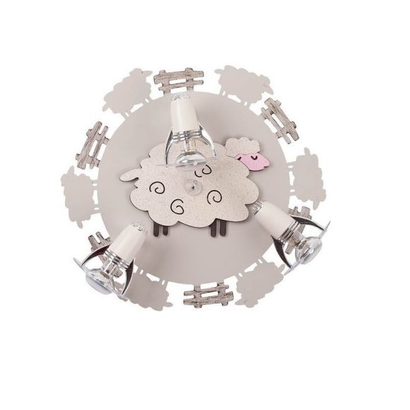 Kinder Deckenrondel Sheep - 3-flammig