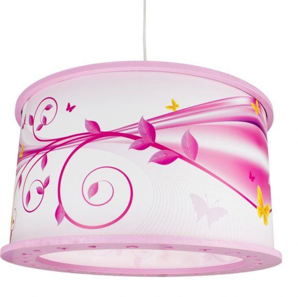 Kinderzimmer Pendelleuchte Phantasie lindgrün oder rosa