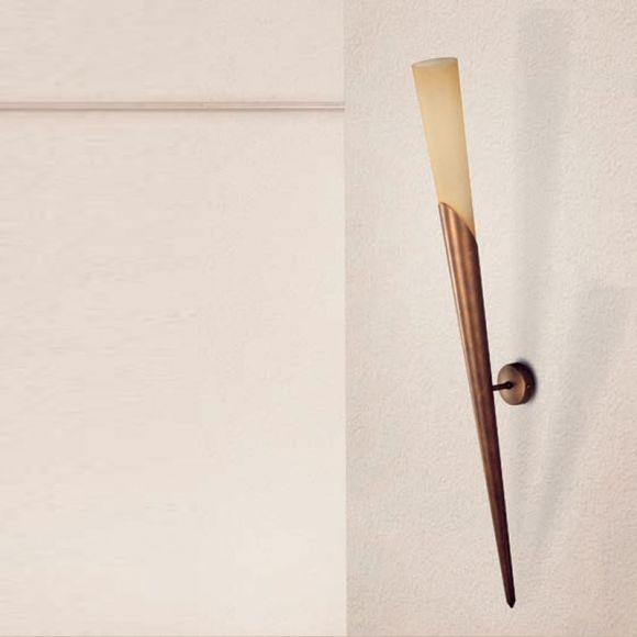 Klassische Wandfackel  - 3 Oberflächen - Höhe 97 cm