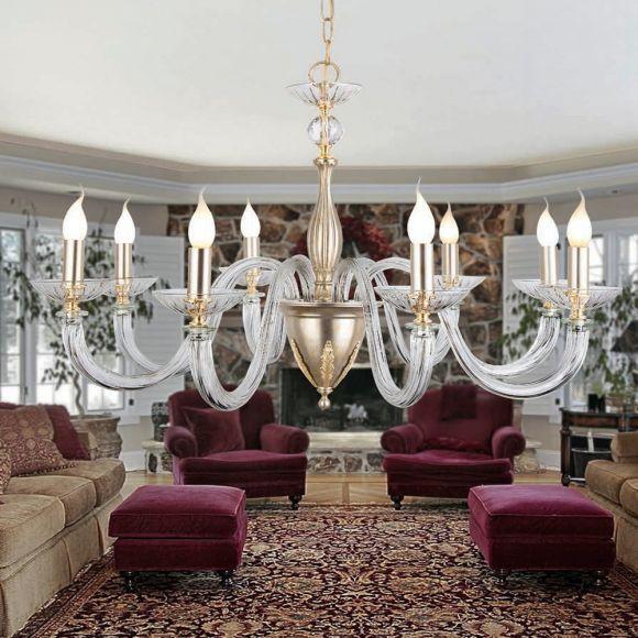 Klassischer Kronleuchter mit 24 Karat Gold