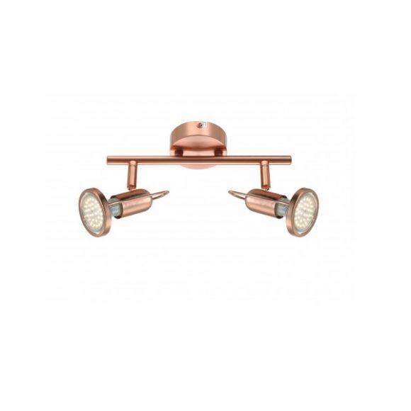 LHG Klassischer LED Deckenstrahler in mattem Kupfer - inklusive LED-Leuchtmittel und LED-Taschenlampe