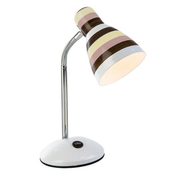 Kleine Tischlampe mit Streifen - Mit Flexarm - 2 Farbvarianten