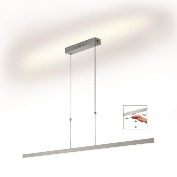 Knapstein LED Pendelleuchte linear, Gestensteuerung höhenverstellbar, 160cm