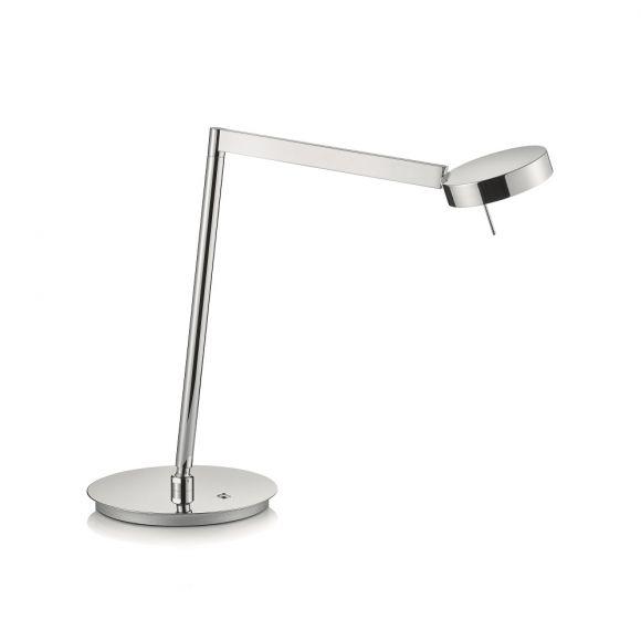 Knapstein LED Tischleuchte mit Tastdimmer, 10,5W in 3 Oberflächen
