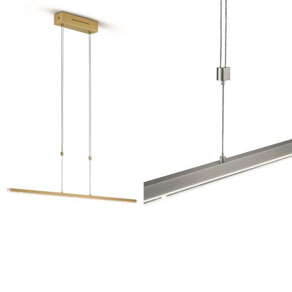 Knapstein LED-Pendelleuchte höhenverstellbar, 90cm, 3 verschiedene Oberflächen
